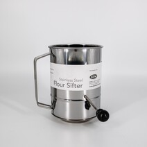 D Line Stainless Steel -5 Cup Flour Sifter Crank