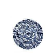 Burleigh Ink Blue Hibiscus Plate  - 19cm